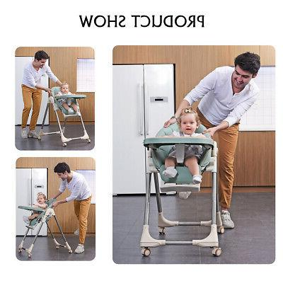 Baby High Chair Booster Feeding Foldable Adjustable