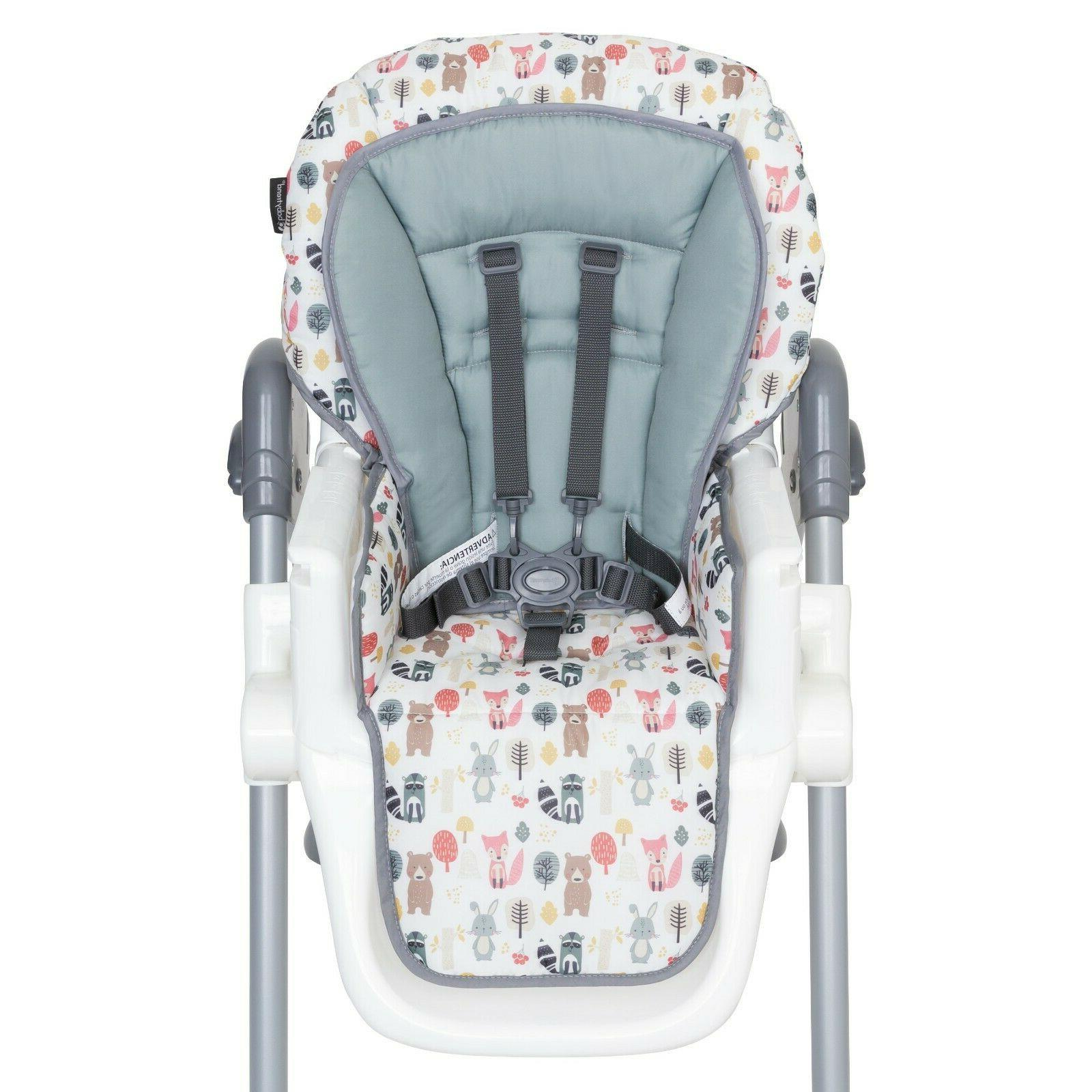 Baby High Chair Sturdy Adjustable Height Mealtime Foldable