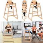 Costway Baby High Chair Wooden Stool Infant Feeding Children