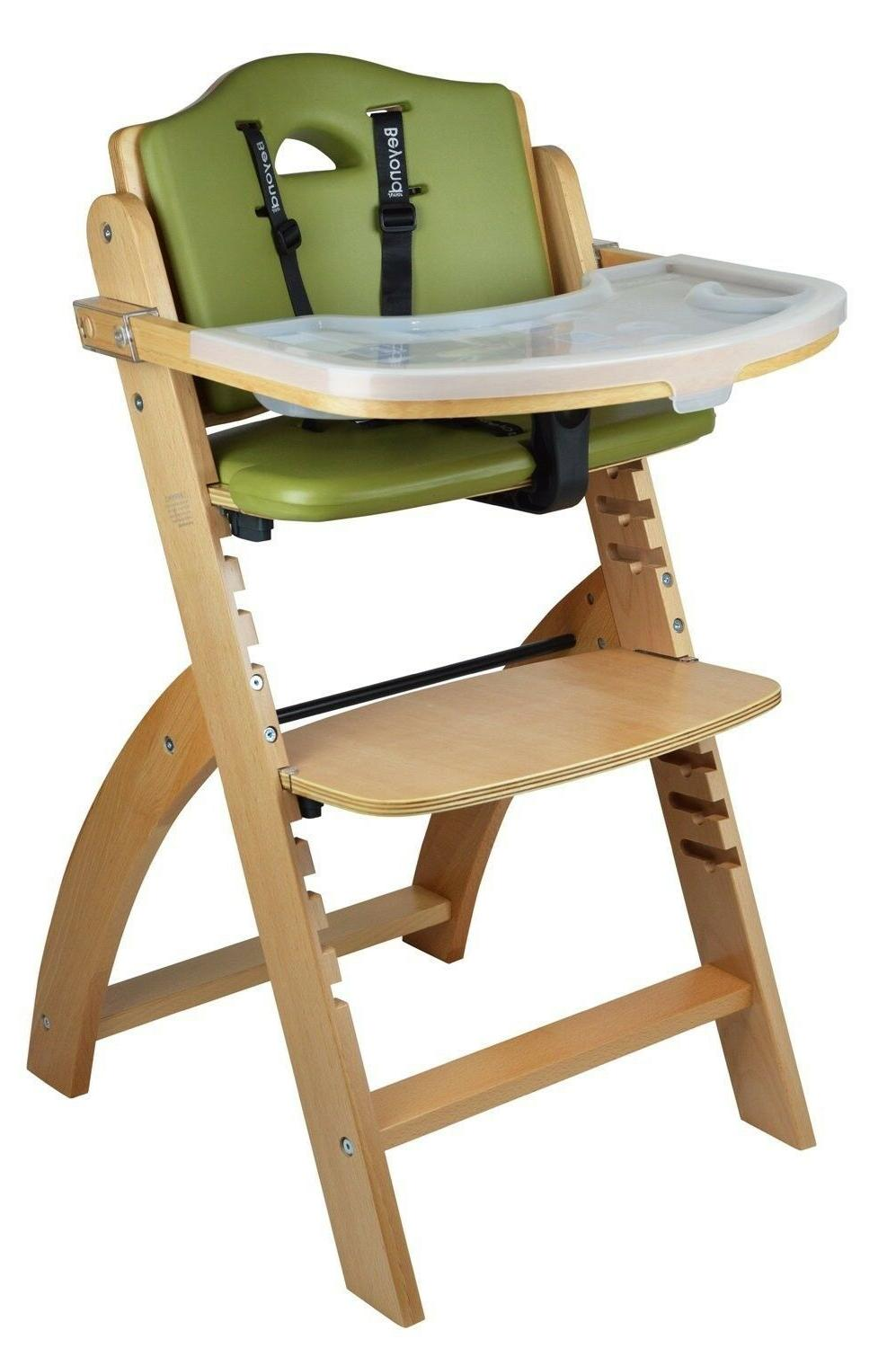Abiie Beyond Wooden High Chair With Tray. The Perfect Adjust