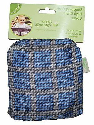 Blue Shopping Cart High Chair Cover Baby Waterproof PVC FREE