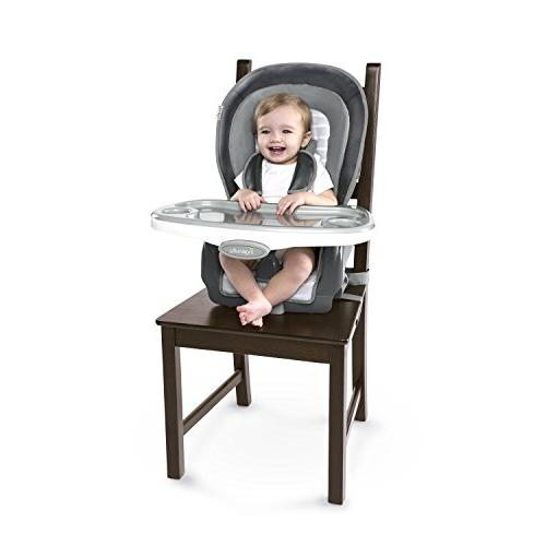 Ingenuity Boutique Collection 3-in-1 Wood High Teddy Chair, Toddler Chair, and Booster
