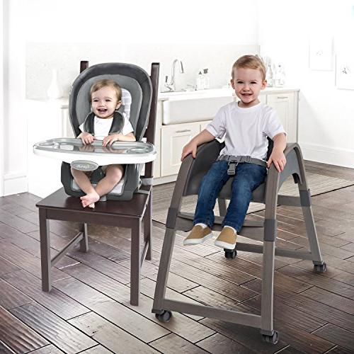 Ingenuity Boutique Collection Wood High Teddy High Chair, Toddler Chair,