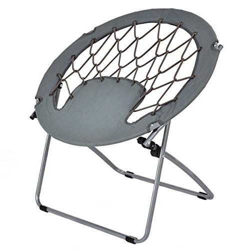 camping folding round bungee chair