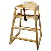 High Chair, Natural Wood