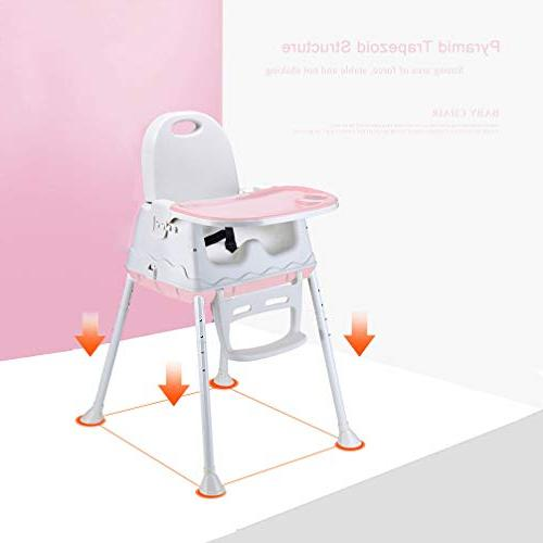 Wheel /& Cushion Blue LYASI 3-in-1 Portable Highchair,Toddler Booster Seat,Baby Feeding Chair with Tray High Chair