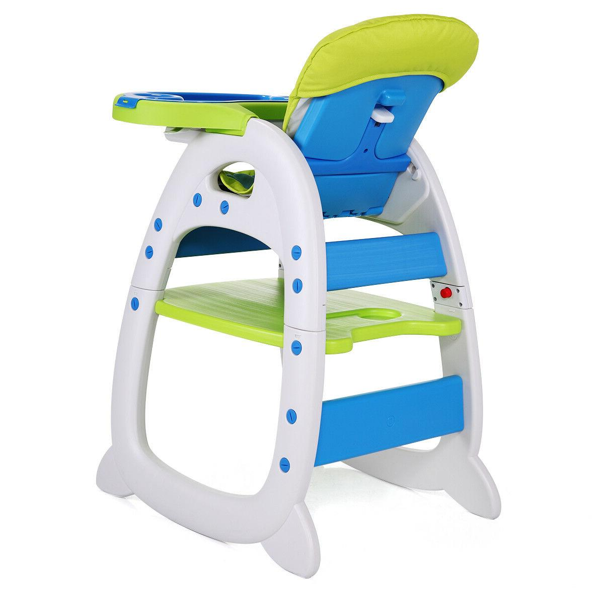 Baby Chair 3 Convertible Play Booster Feeding Tray
