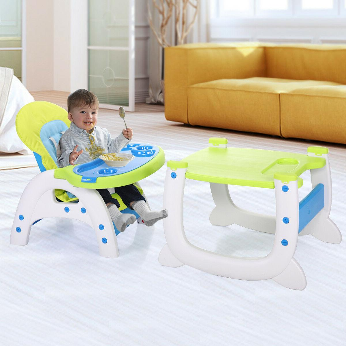 Baby High Chair Table 3 in Convertible Play Booster Feeding