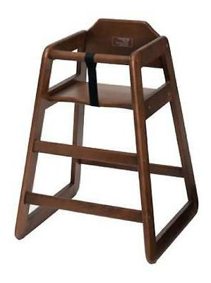 chh 104 stacking high chair walnut finish