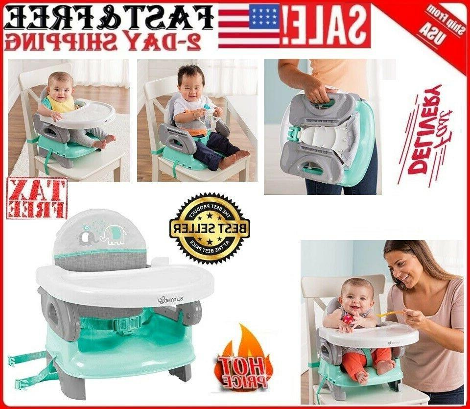 Compact Summer Infant Deluxe Comfort Booster Seat Folding Hi