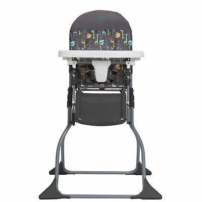 compactable simple fold high chair with adjustable