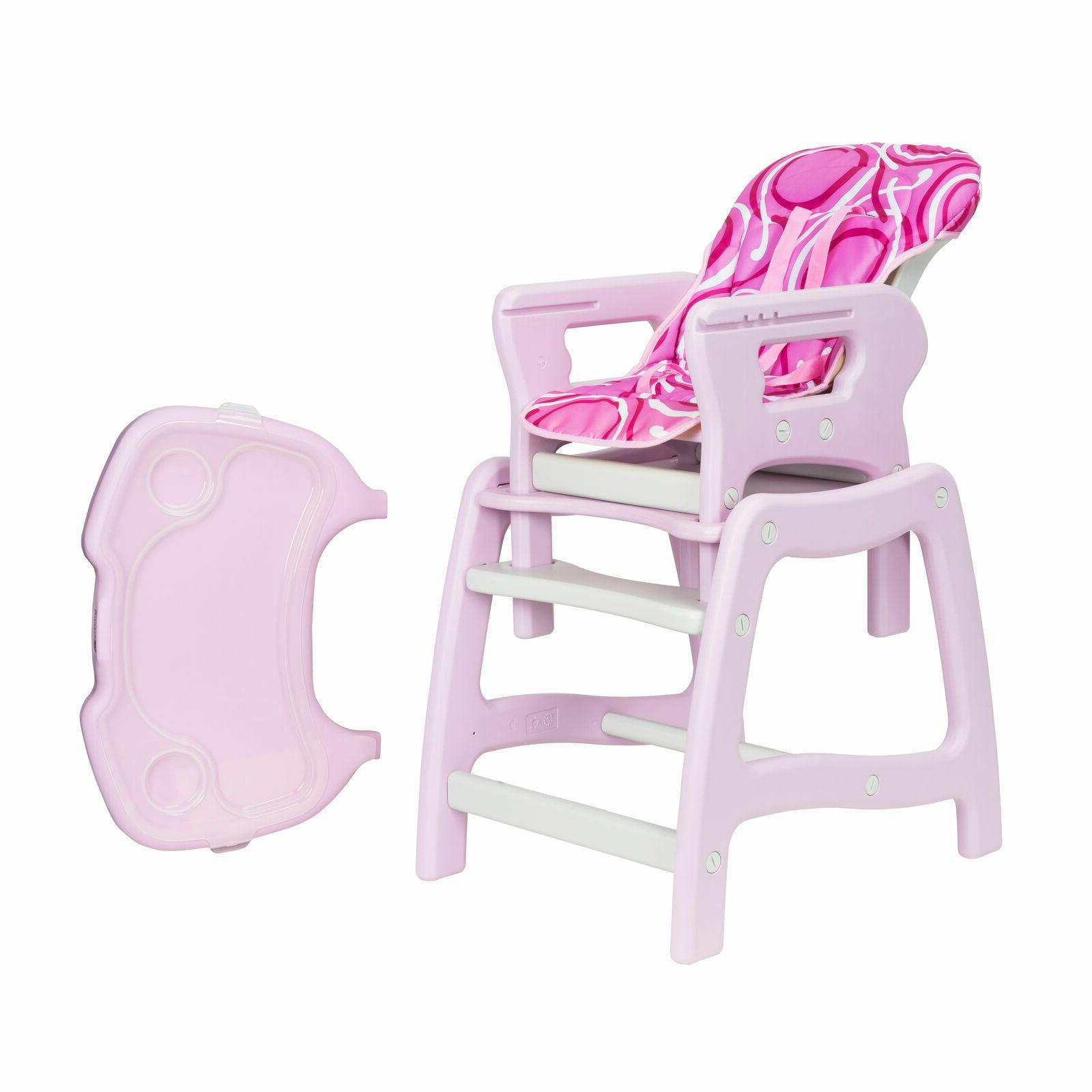 Convertible Baby Feeding Seat Toddler Infant Pink