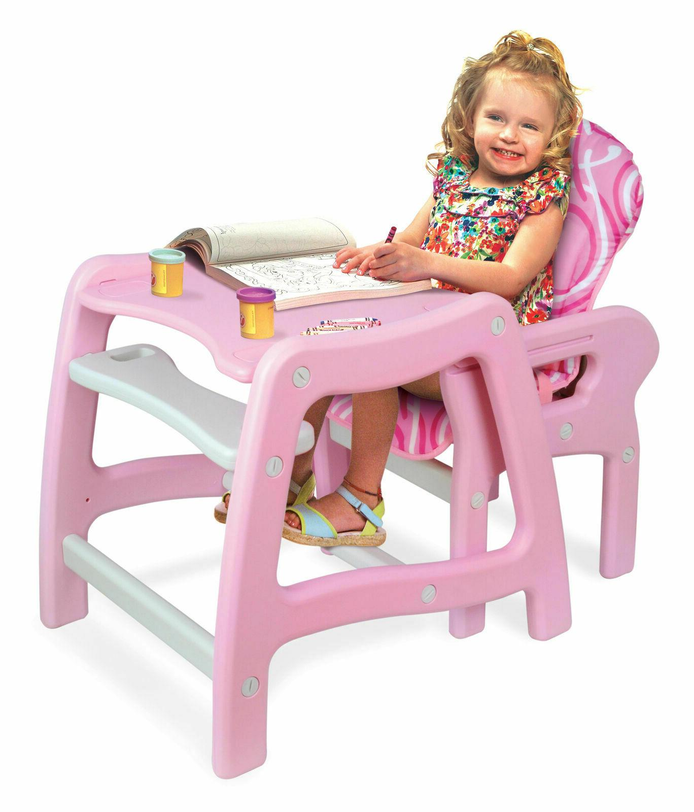 Convertible Feeding Booster Seat Infant Pink