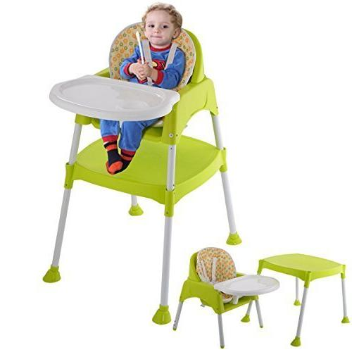 COSTWAY 3 1 Table Set, Snacker High Booster Furniture, with & Holder