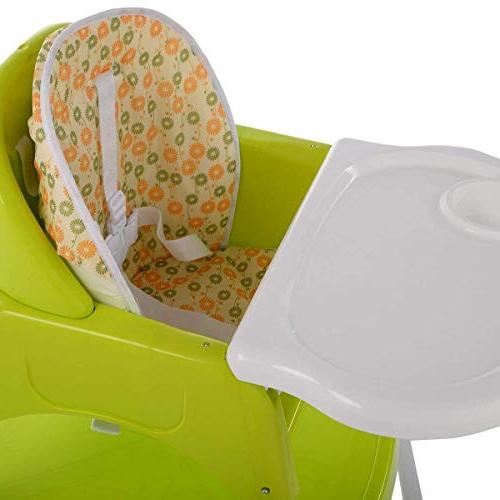 COSTWAY 1 Table Set, High Chair Booster Furniture, Feeding with Tray Cup Holder