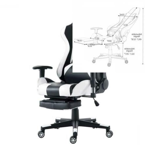 Costway Gaming Chair High Back Racing Recliner Office w/Lumb