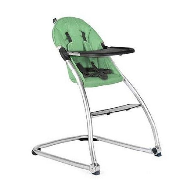 BABYHOME EAT HIGH CHAIR, MINT *DISTRESSED PKG*