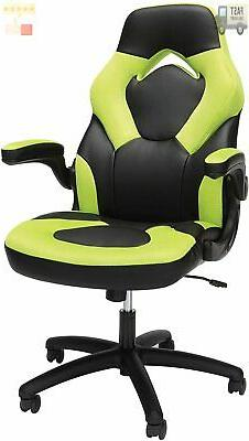 Essentials by OFM ESS-3085-GRN Racing Style Leather Gaming C