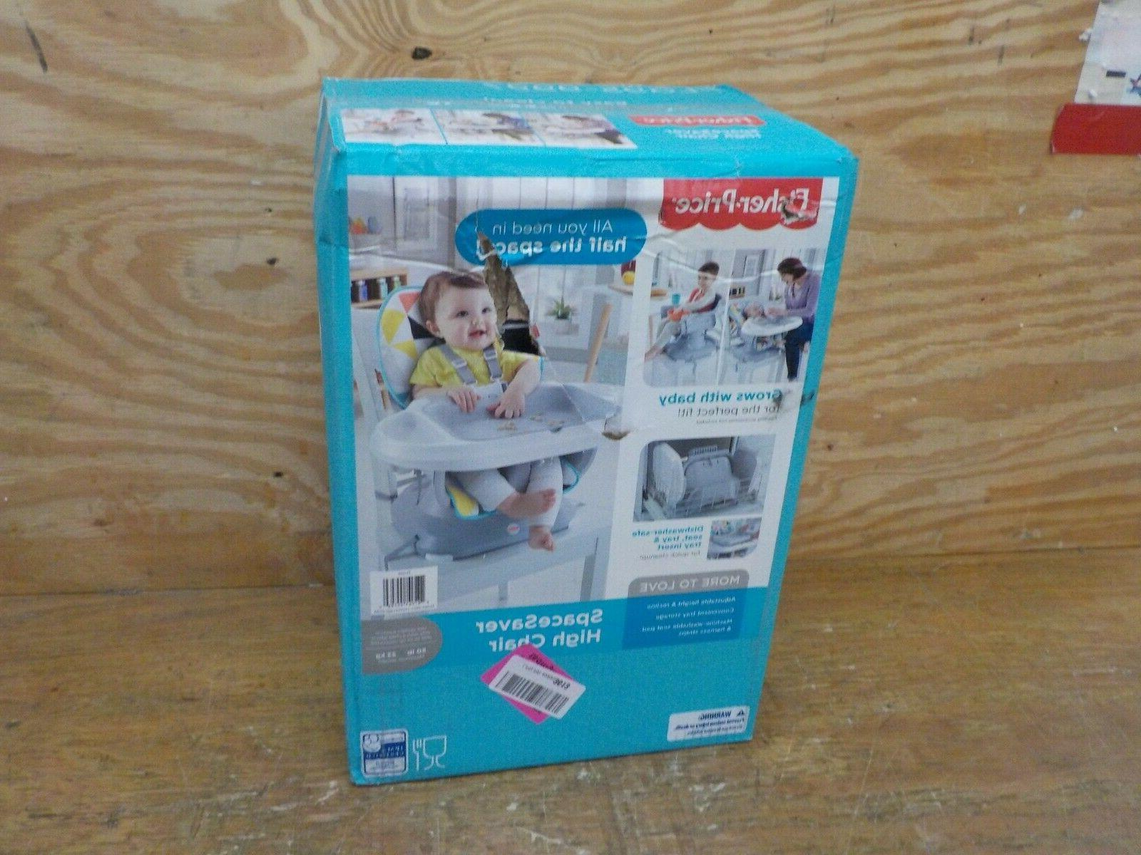 fisher price spacesaver high chair multicolor