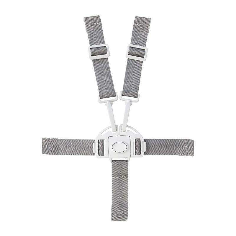 Boon Flair High Replacement Straps & Webbing Harness/Buckle 5 Point White