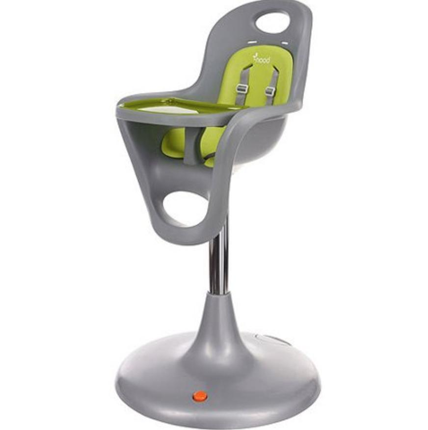 flair high chair with and tray gray