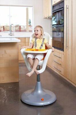 Boon Pedestal High Chair - Orange/White