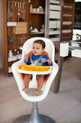 Boon Flair Pedestal Chair Orange/White