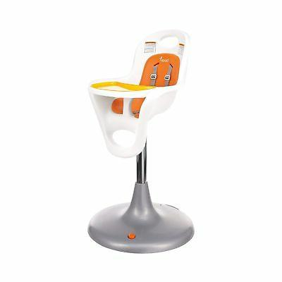 Boon Flair Highchair - Orange Pad - White Base