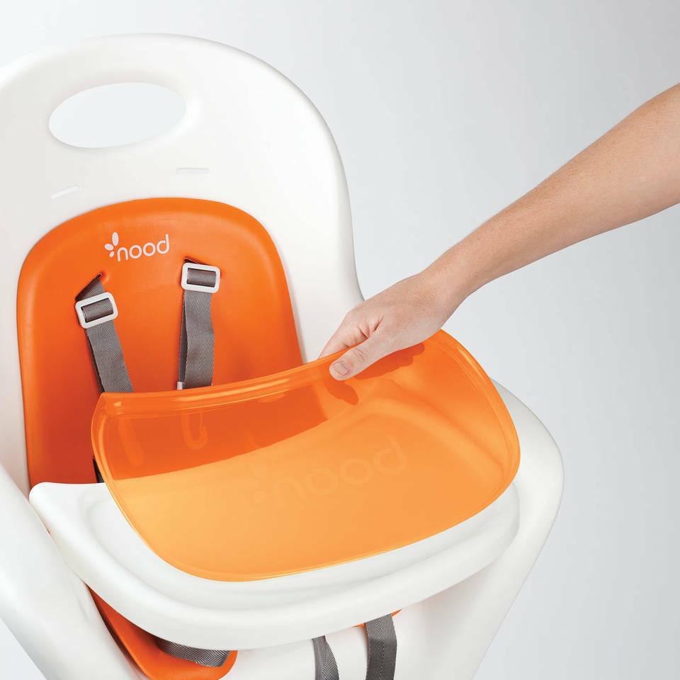 Boon Flair Pedestal with Pneumatic White/Orange