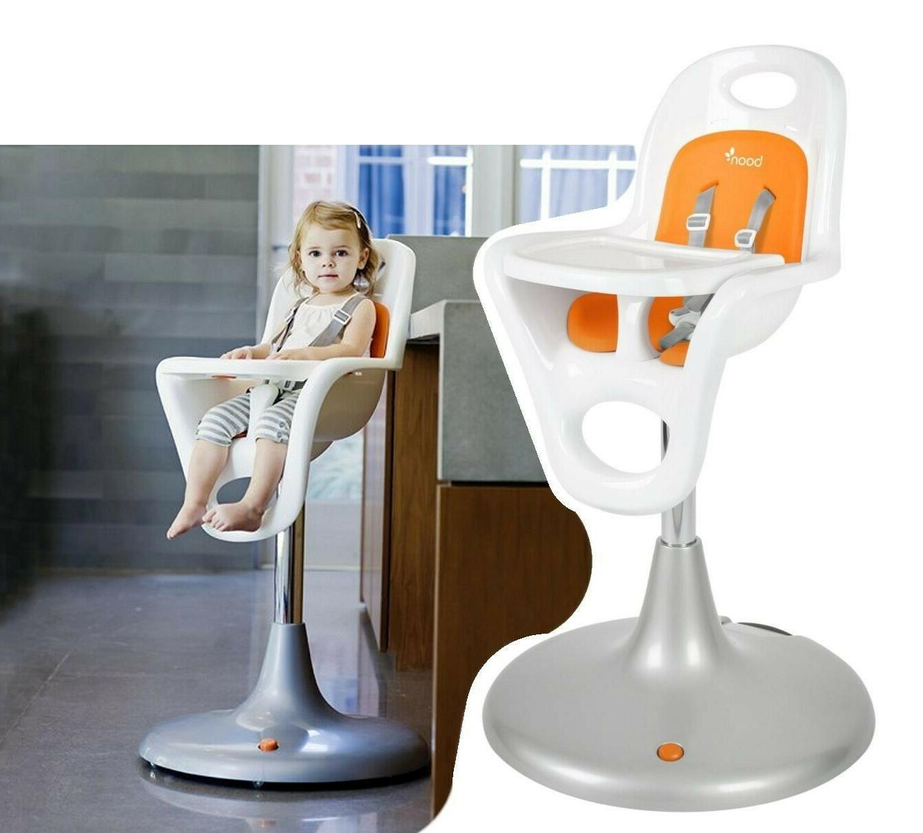 flair pedestal highchair with pneumatic lift white
