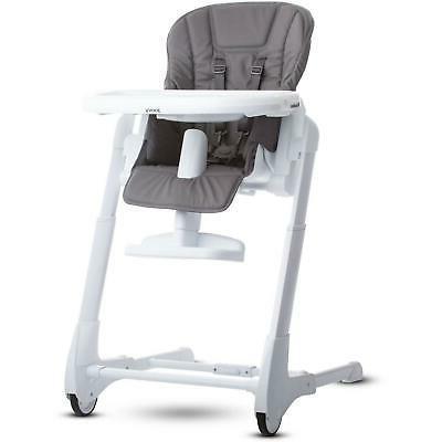 foodoo baby height adjustable high chair charcoal