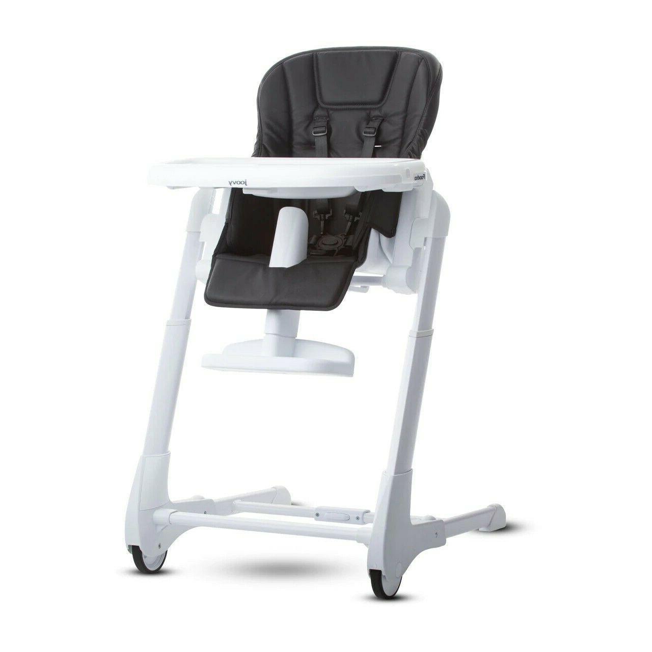 foodoo black high chair adjustable reclines huge