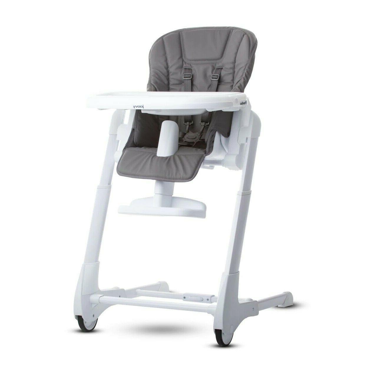 Joovy Foodoo CHARCOAL High Chair Adjustable Reclines  Huge T