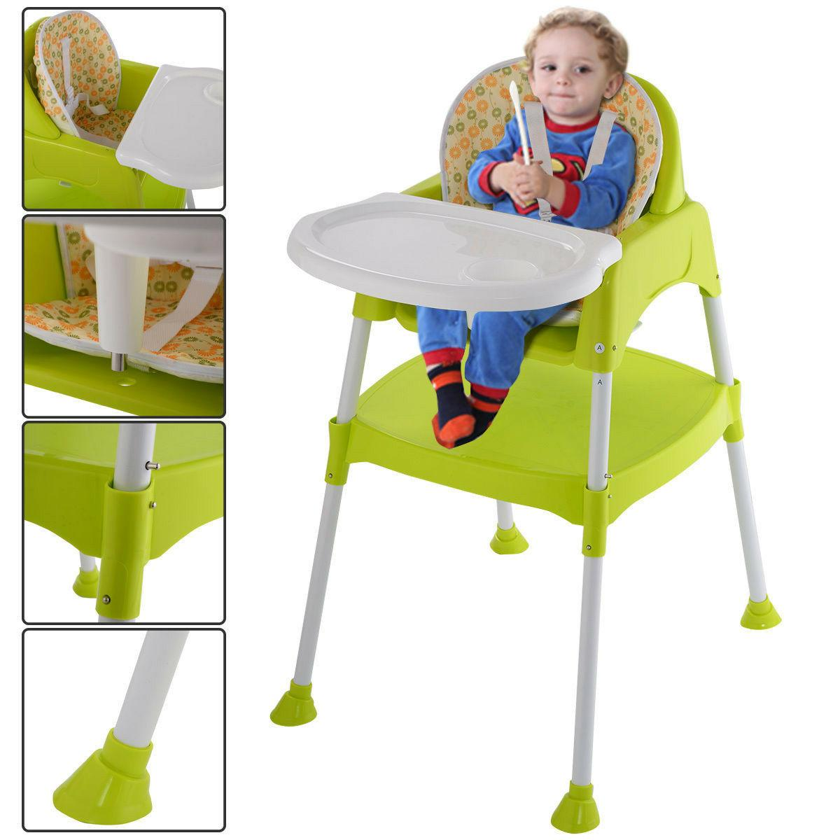 Costway Green 1 Baby Convertible Booster Toddler Feed