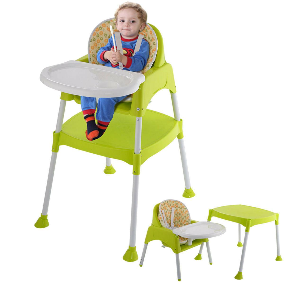 Costway Green 3 1 Baby Chair Convertible Toddler Feed