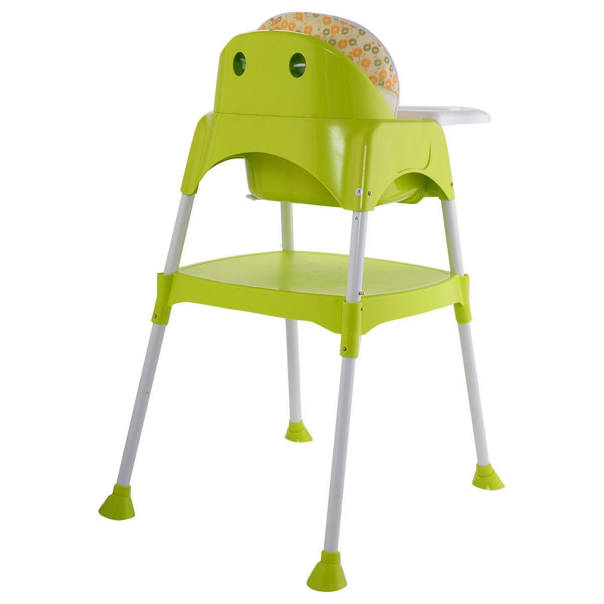 green 3 in 1 baby high chair
