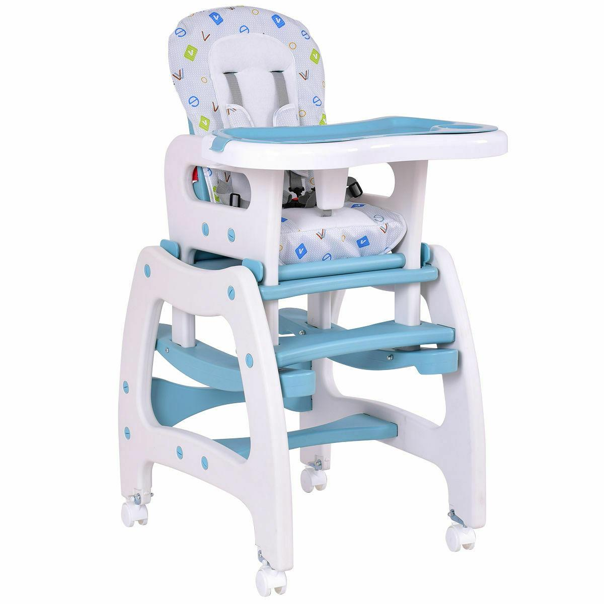 High 1 Baby Table Seat Booster Pink/Blue