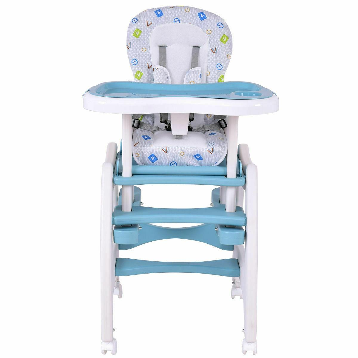 High 1 Baby Table Booster Toddler Pink/Blue