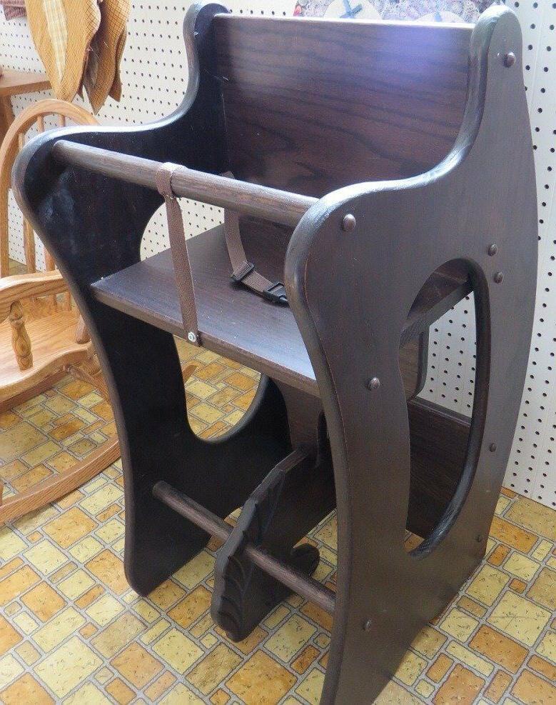 HIGH CHAIR Desk HORSE Amish Handmade Children Furniture SOLID