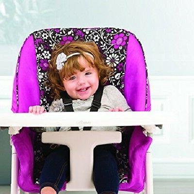 High Chair Feeding Girl Toddler