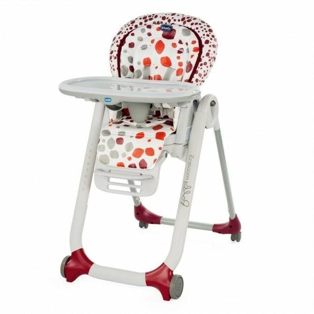 high chair polly progres5 4 wheels cherry