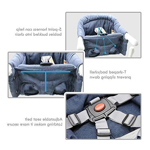 Hook Chair, and Design, Fold-Flat Fixing High Machine-Washable and Avoid Fabric, Removable Seat Chair