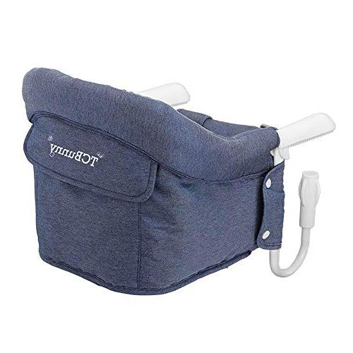 Hook On Safe and High Fold-Flat and Fixing Clip High Chair, and Avoid Cracking Seat Fast Chair