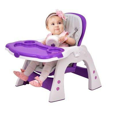 Home 3 in1 Convertible Play Table Seat Baby High Chair Boost
