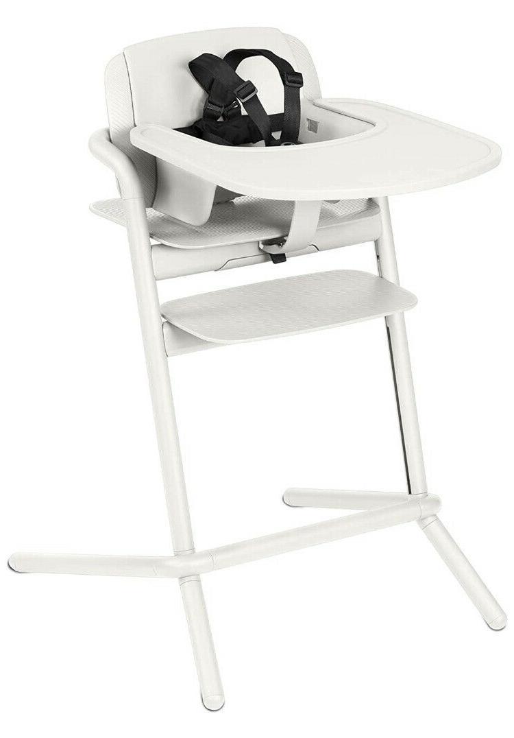 lemo high chair porcelain white brand new