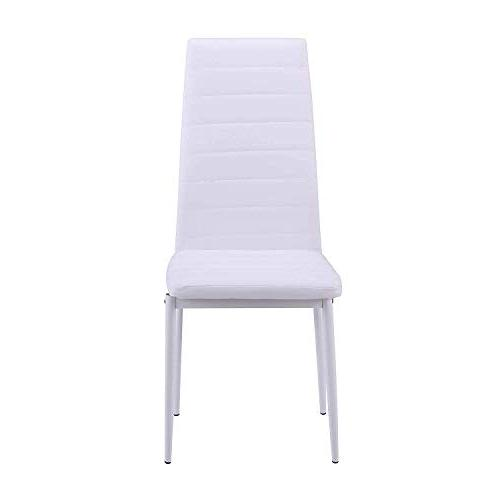 Merax Chair of Kitchen Cushion High Back PU for Kitchen, Dining, Bedroom, Living Room