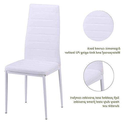 Merax Dining Chair of Kitchen Cushion High PU Kitchen, Room