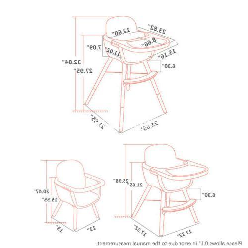 2 in 1 High Chair Convertible Cushion