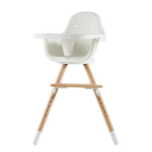 Swivel Adjustable Wooden High Chair Feeding Chair with Tray