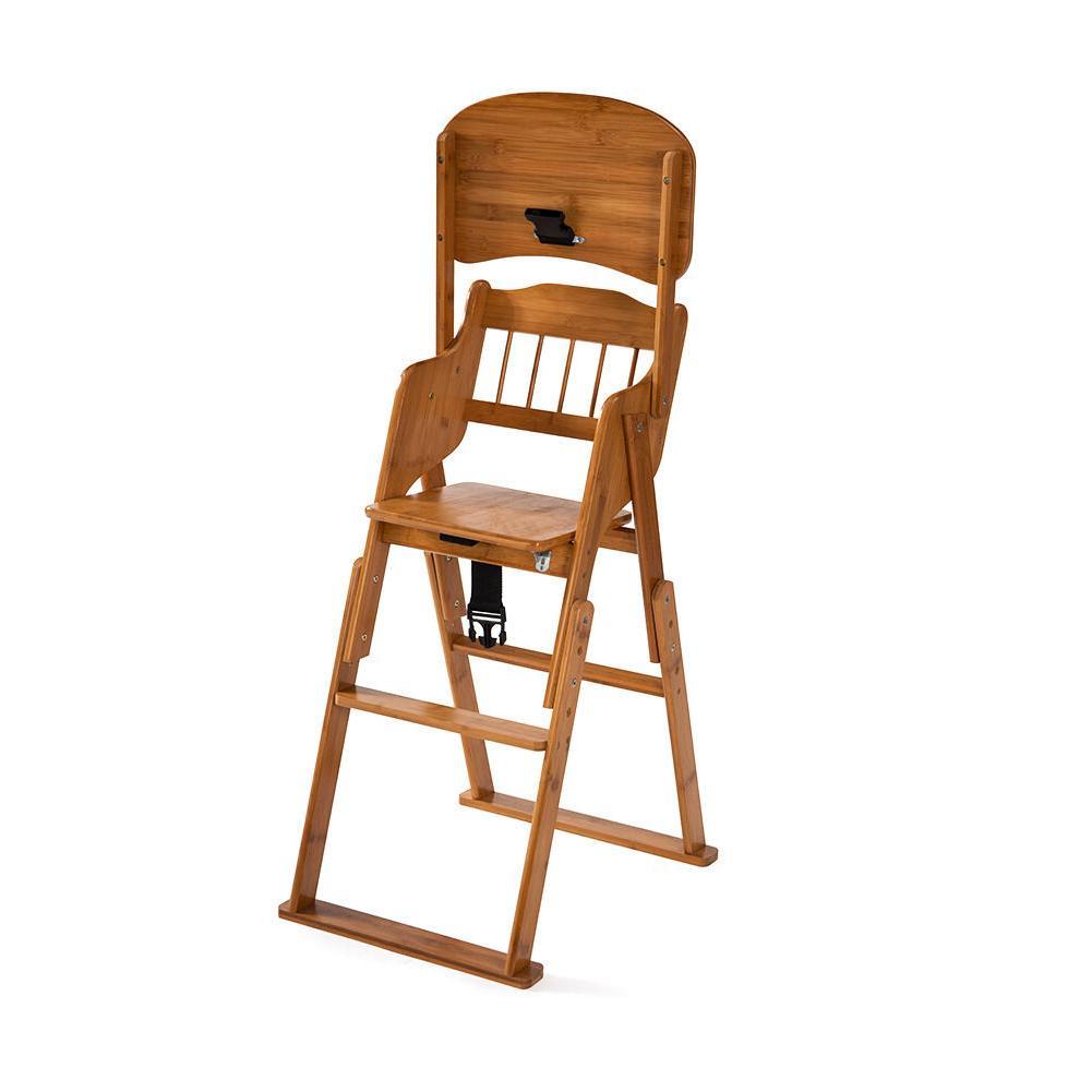 New High Chair Bamboo Stool Children Toddler Restaurant